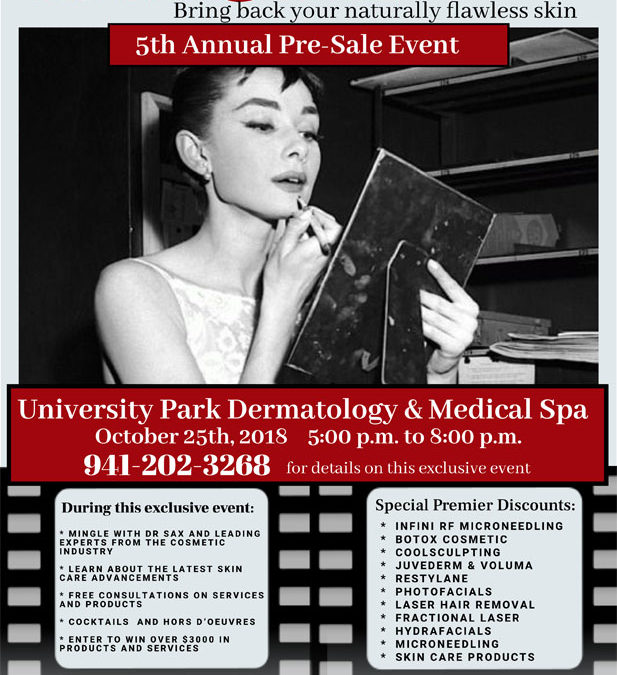 OCT 25 – 5pm to 8pm – Cosmetic Pre-Sale Event – Special Pricing, Giveaways, Promos And MORE!