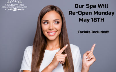 Spa Open May 18th – Book Your Next Appointment