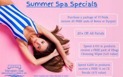 Summer Spa Specials