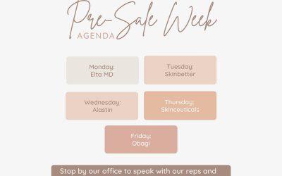 2021 Cosmetic Pre Sale Week