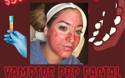 Book your Vampire PRP facial today!